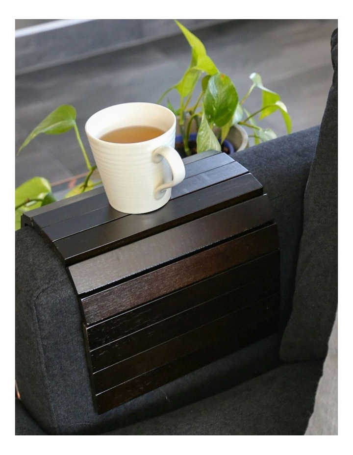 Bamboo Multi-Fit Couch Arm Table Black Japan image 2