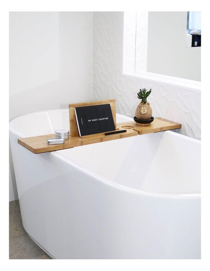 Bamboo Bath Caddy Shelf image 2