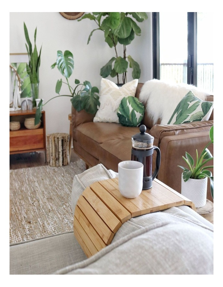 Bamboo Multi-Fit Couch Arm Table (2 Pack) Natural image 3