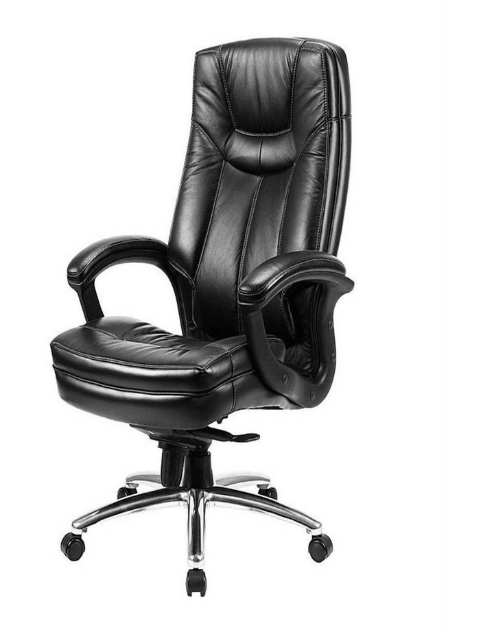 Oos Living Genuine Leather High Back, Real Leather Office Chair