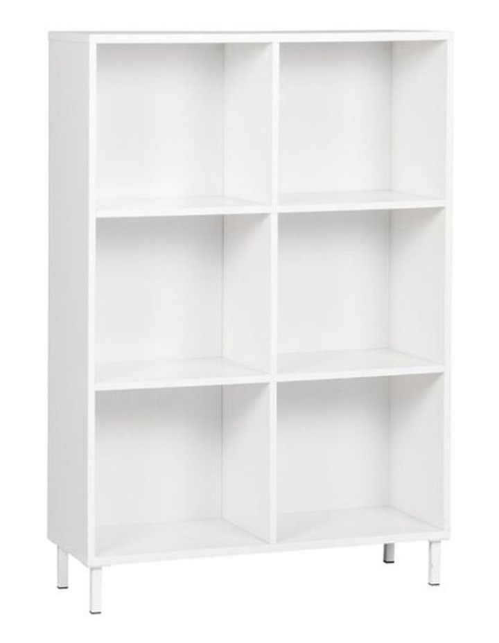 6 Cube Bookcase with 2 doors image 2
