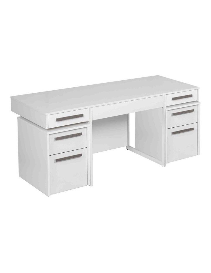 Ella Manager Desk with Set of 2 Mobile Pedestals image 1