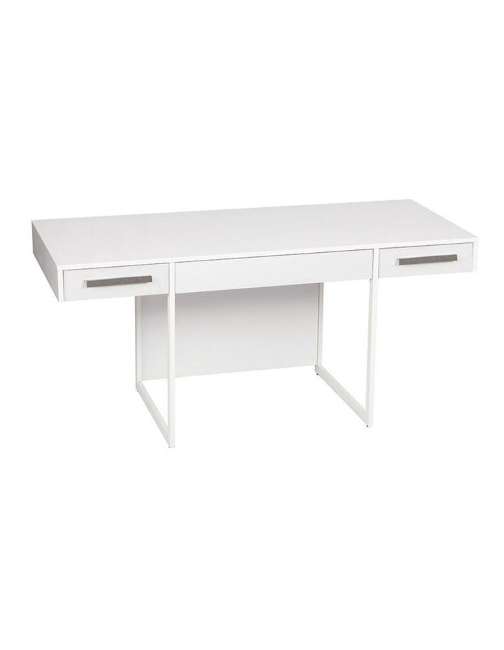 Ella Manager Desk with Set of 2 Mobile Pedestals image 2