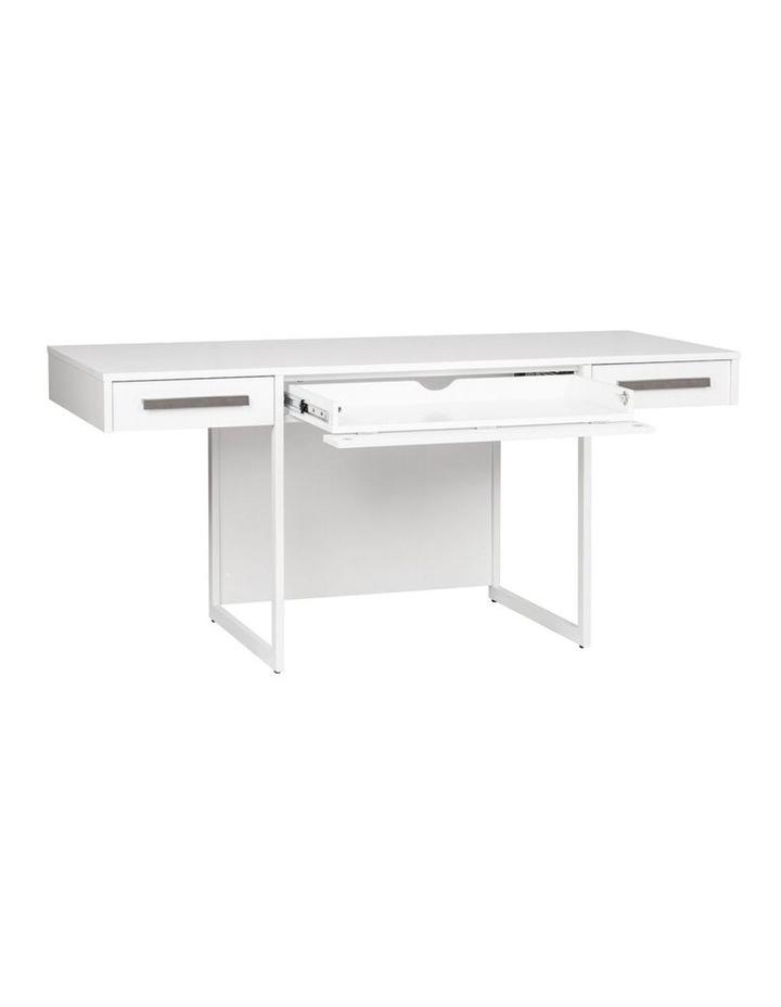 Ella Manager Desk with Set of 2 Mobile Pedestals image 3