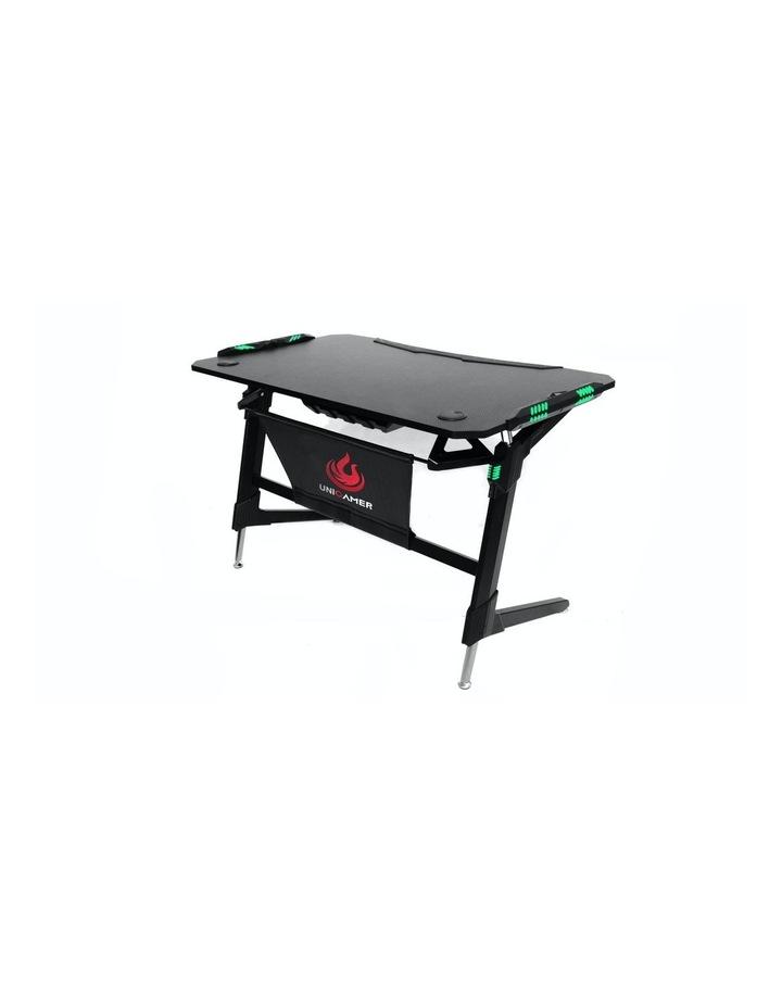 RBB Ergonomic Gaming Desk In Black image 1