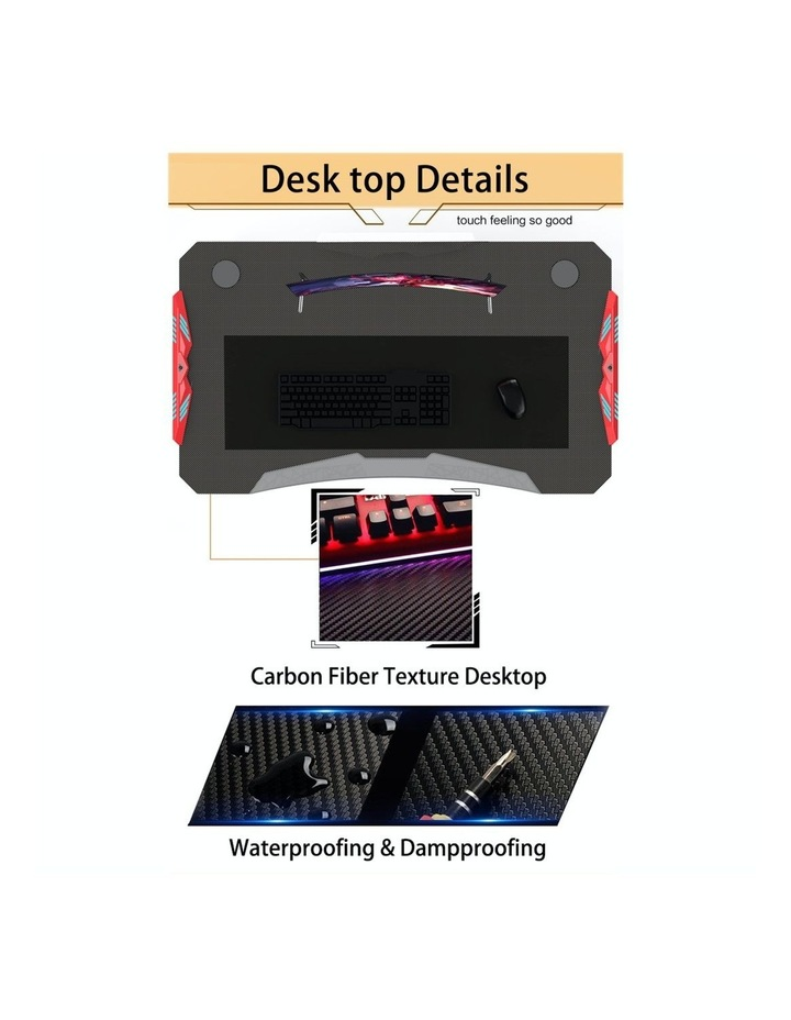 RBB Ergonomic Gaming Desk In Black image 3