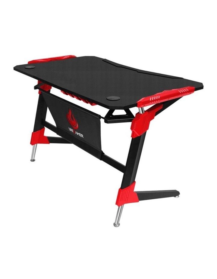 RBB Ergonomic Gaming Desk In Red image 1