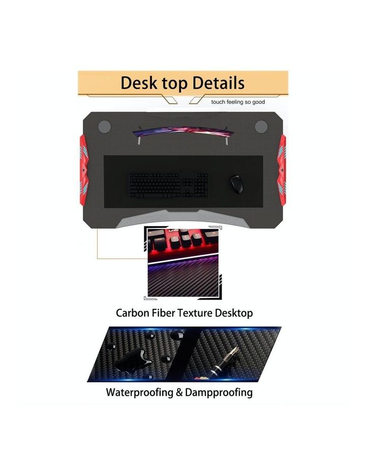 RBB Ergonomic Gaming Desk In Red image 2