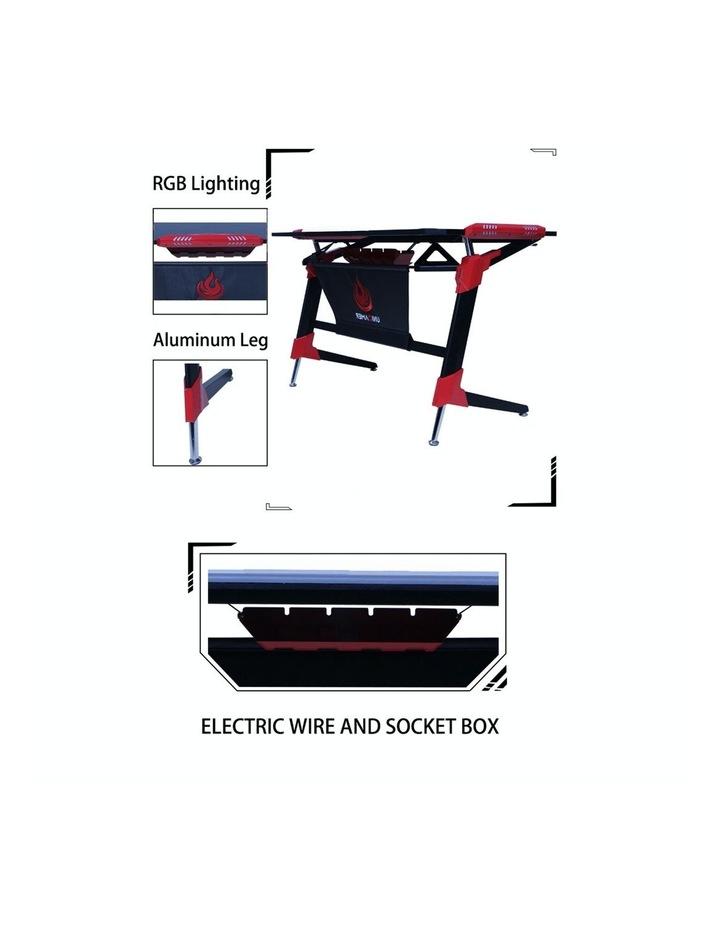RBB Ergonomic Gaming Desk In Red image 3