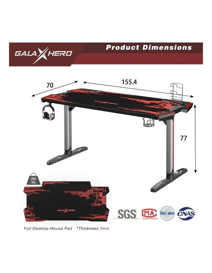 GalaHero 1.6m RGB Ergonomic Gaming Desk image 7