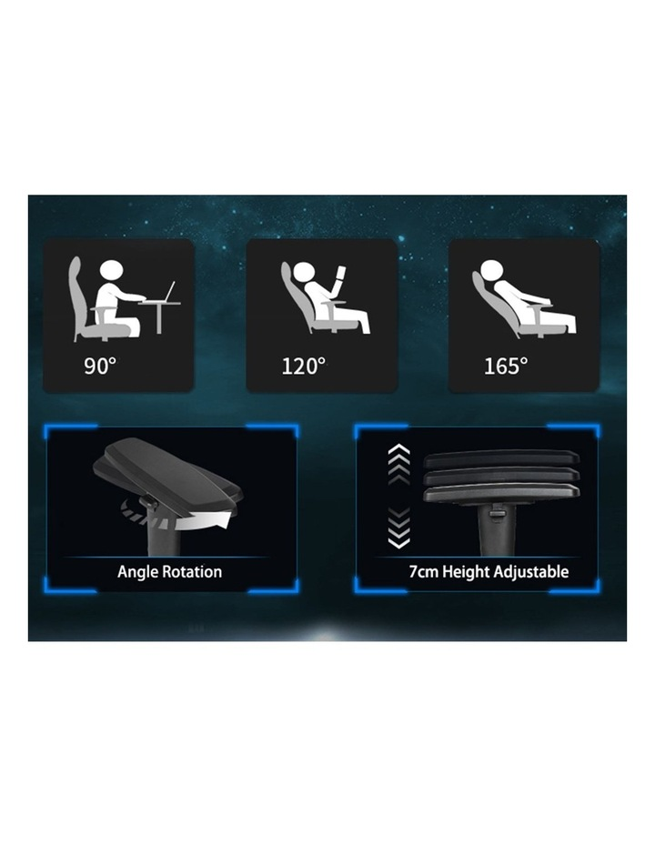 GalaHero Ergonomic Racing Style Gaming Chair in Blue image 2