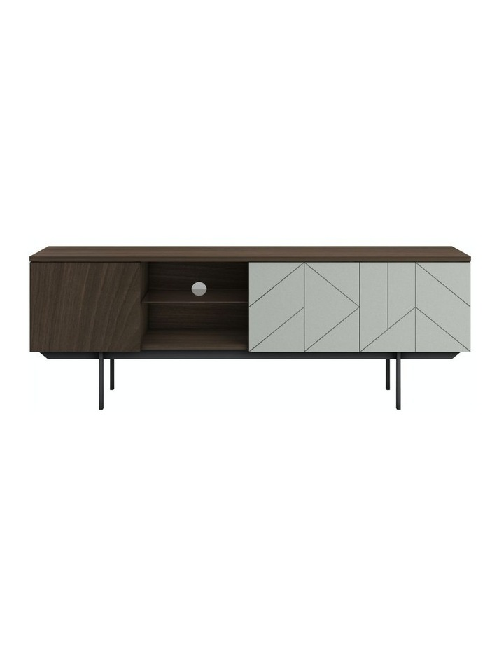 MIA Pre-Assembled TV Unit in Walnut And Grey image 1
