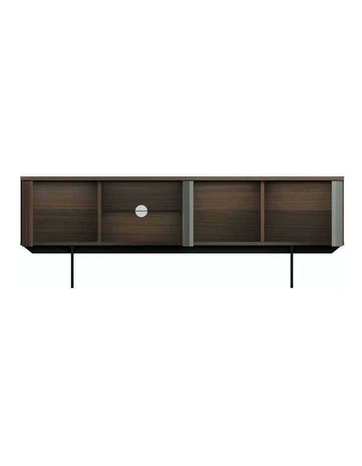 MIA Pre-Assembled TV Unit in Walnut And Grey image 2