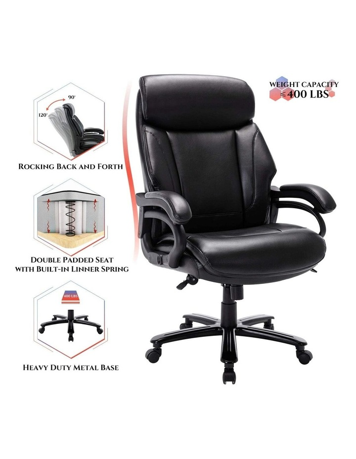 Innovative Comfort Coils High Back Big & Tall 180KG Bonded Leather Office Chair image 6