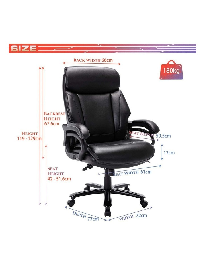 Innovative Comfort Coils High Back Big & Tall 180KG Bonded Leather Office Chair image 7