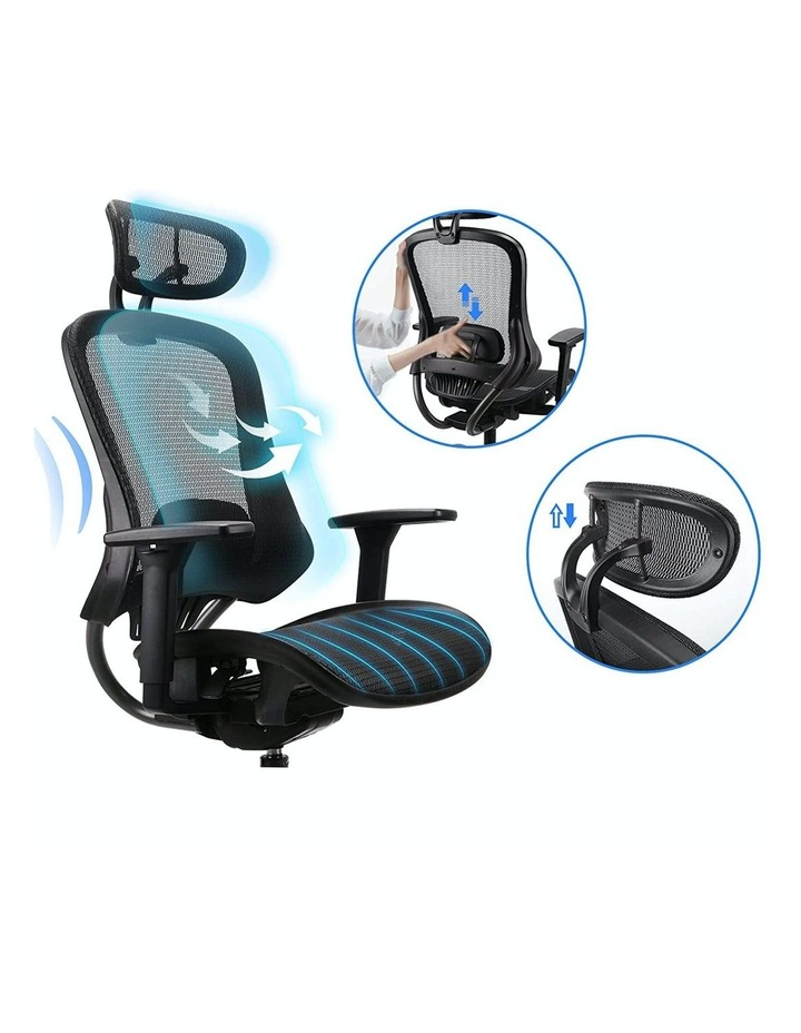 MECH Ergonomic Office Chair - High Back with Height Adjustable Lumbar Support and 2D Armrest- (Black) image 3