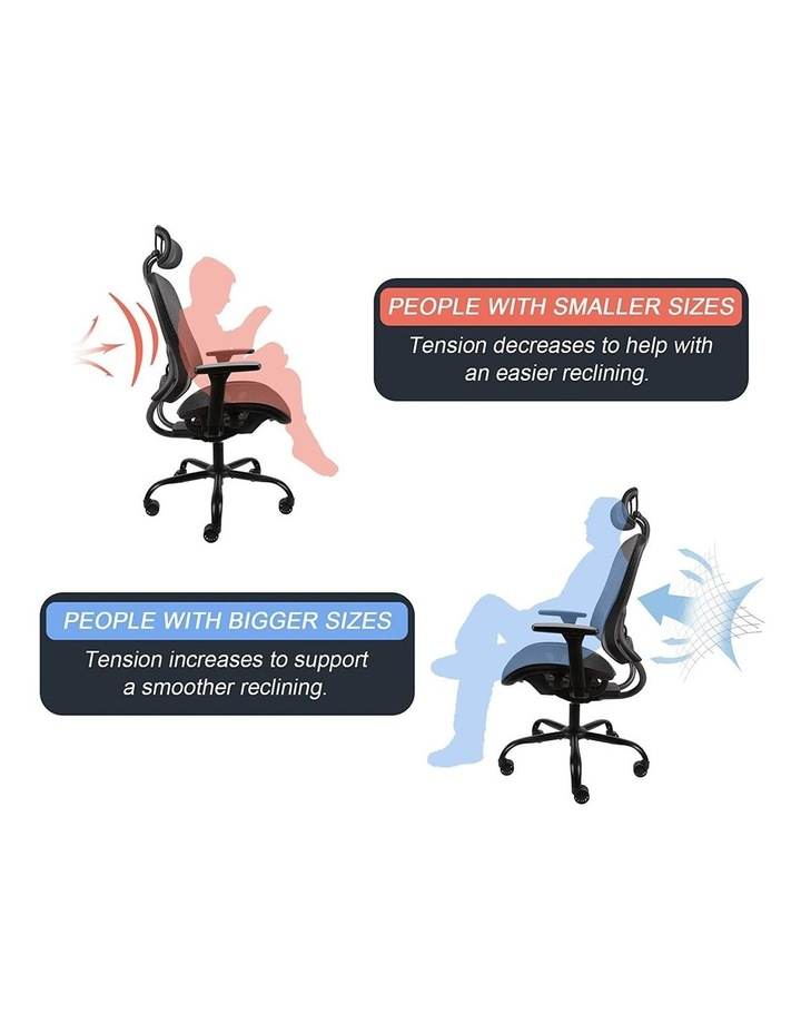 MECH Ergonomic Office Chair - High Back with Height Adjustable Lumbar Support and 2D Armrest- (Black) image 5