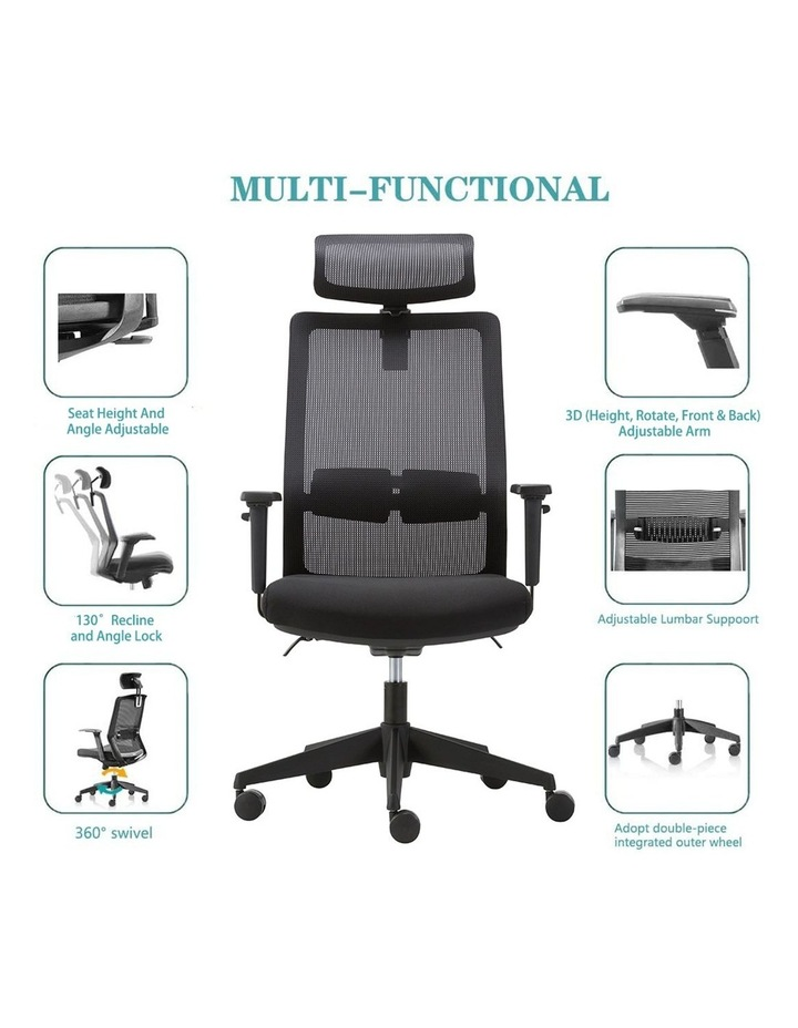 MIRO5 Ergonomic Mesh Executive Chair with 3D Arm Rest and Adaptive Synchronize Seat High Back Swivel for Home Office image 5