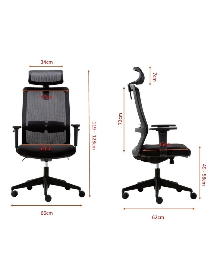 MIRO5 Ergonomic Mesh Executive Chair with 3D Arm Rest and Adaptive Synchronize Seat High Back Swivel for Home Office image 6