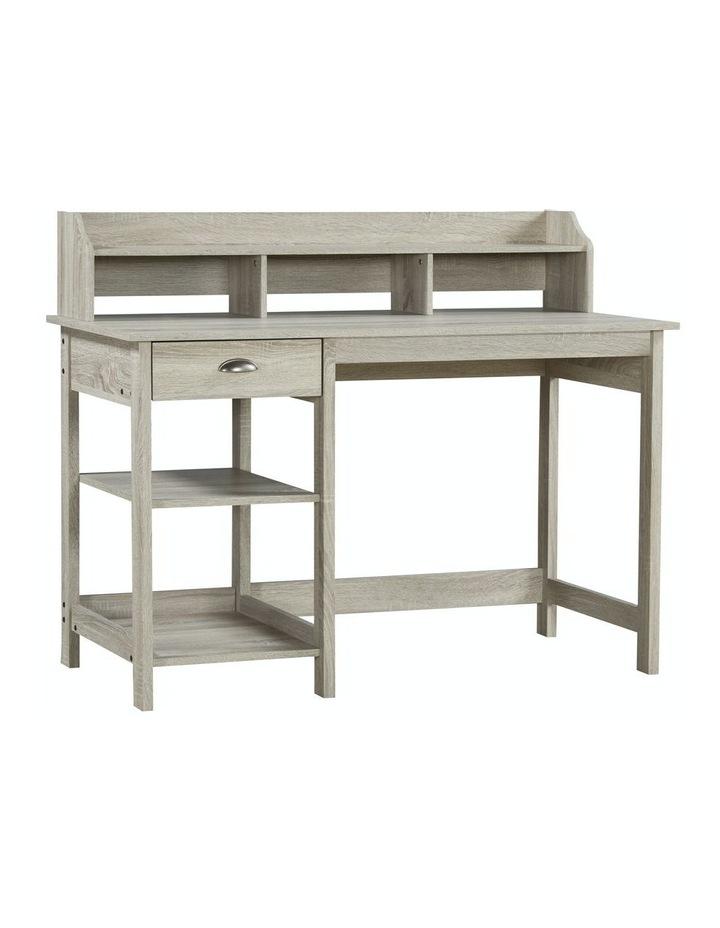 Jace 1.2m Writing Desk with Desktop Organiser in Washed Grey image 1