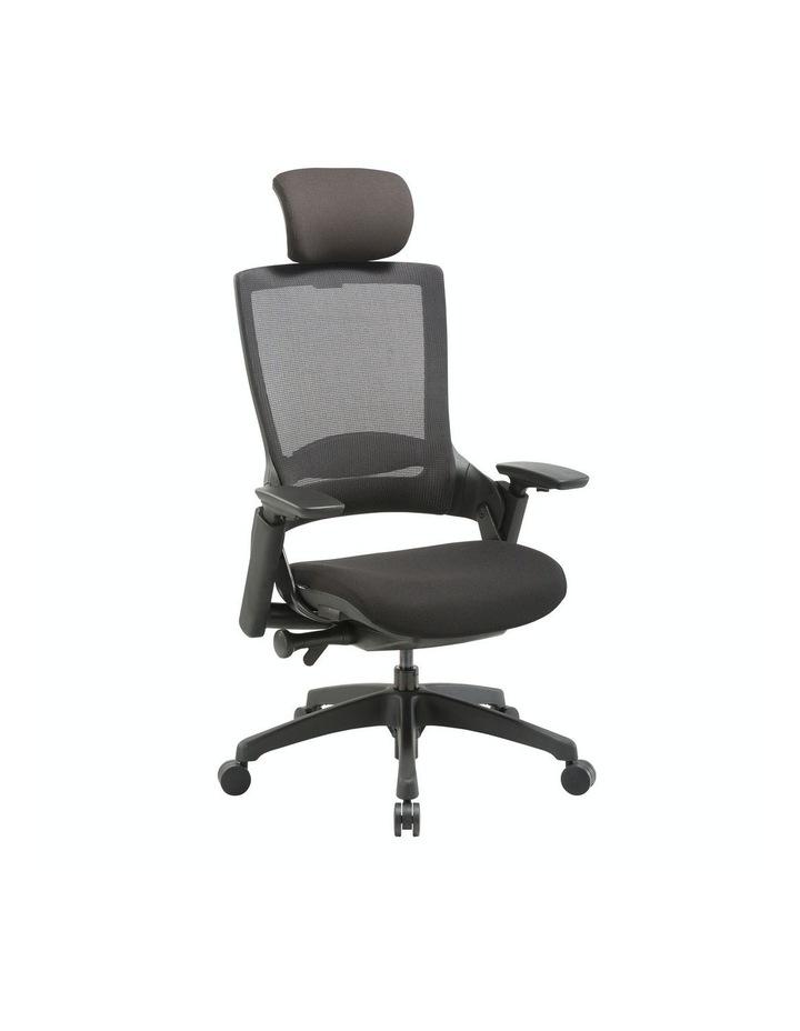 MASKA Minimum Assembly Ergonomic Swivel Executive Chair with Adjustable Height 3D Arm Rest Mesh Back image 2
