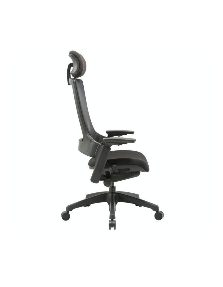 MASKA Minimum Assembly Ergonomic Swivel Executive Chair with Adjustable Height 3D Arm Rest Mesh Back image 3