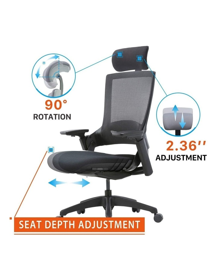 MASKA Minimum Assembly Ergonomic Swivel Executive Chair with Adjustable Height 3D Arm Rest Mesh Back image 4