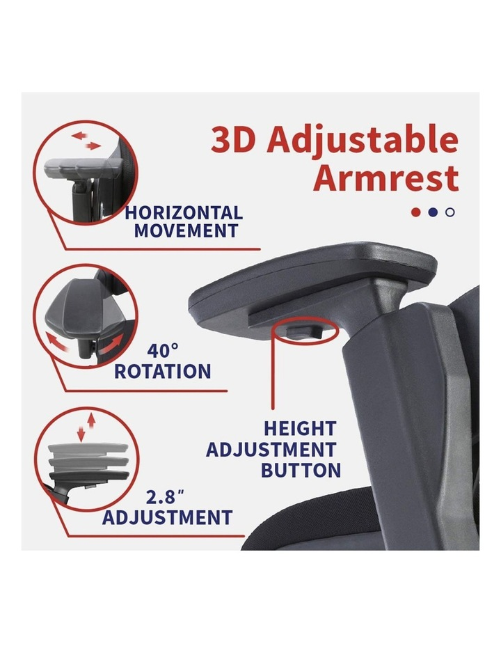 MASKA Minimum Assembly Ergonomic Swivel Executive Chair with Adjustable Height 3D Arm Rest Mesh Back image 5