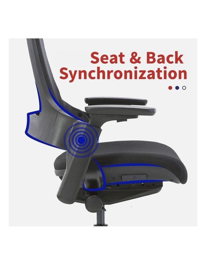 MASKA Minimum Assembly Ergonomic Swivel Executive Chair with Adjustable Height 3D Arm Rest Mesh Back image 6