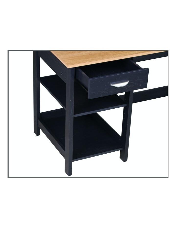 Jace 1.2m Writing Desk with Desktop Organiser in Honey Maple & Antique Black image 2