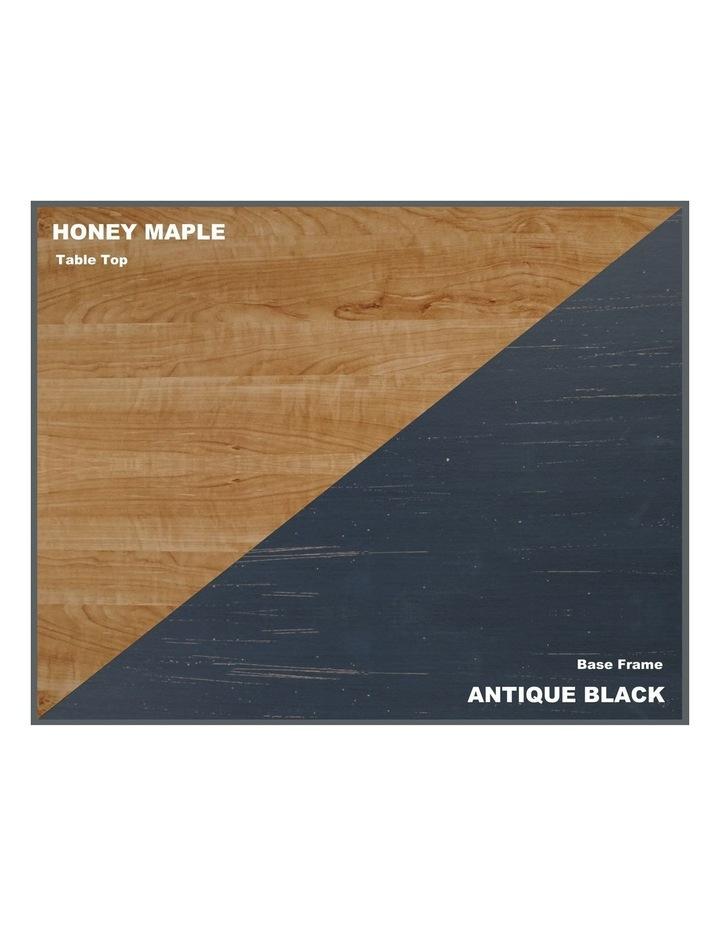 Jace 1.2m Writing Desk with Desktop Organiser in Honey Maple & Antique Black image 4