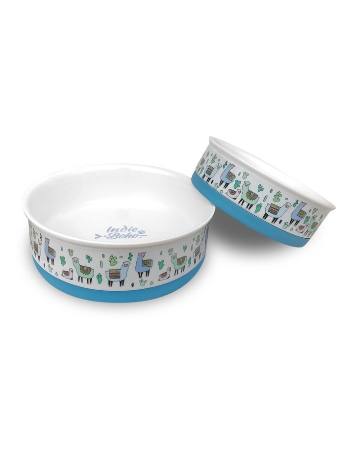 Alpaca Family Designer Pet Bowl Set image 1