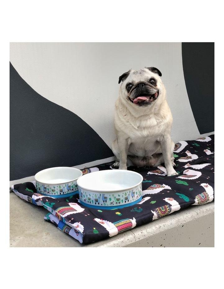 Alpaca Family Designer Pet Bowl Set image 3