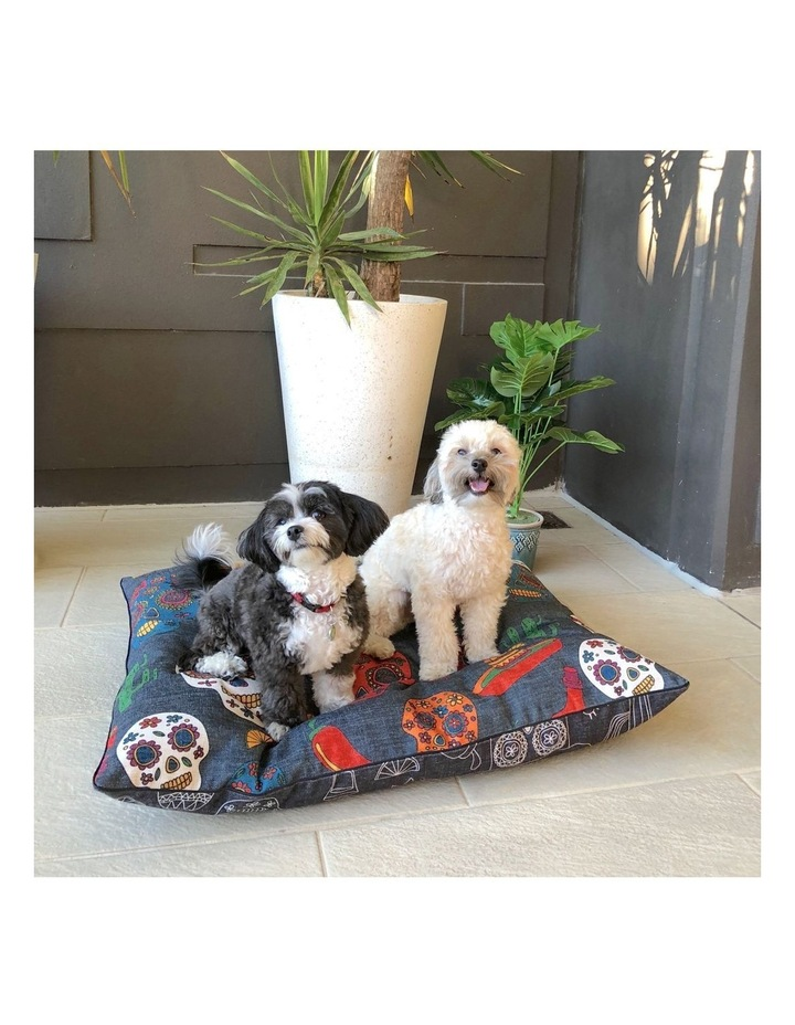 Mexican Skulls  LARGE Dog Bed image 4