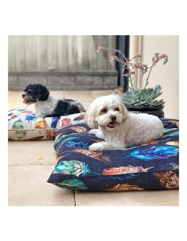 Feather Scatter Indigo  LARGE Pet Bed image 3