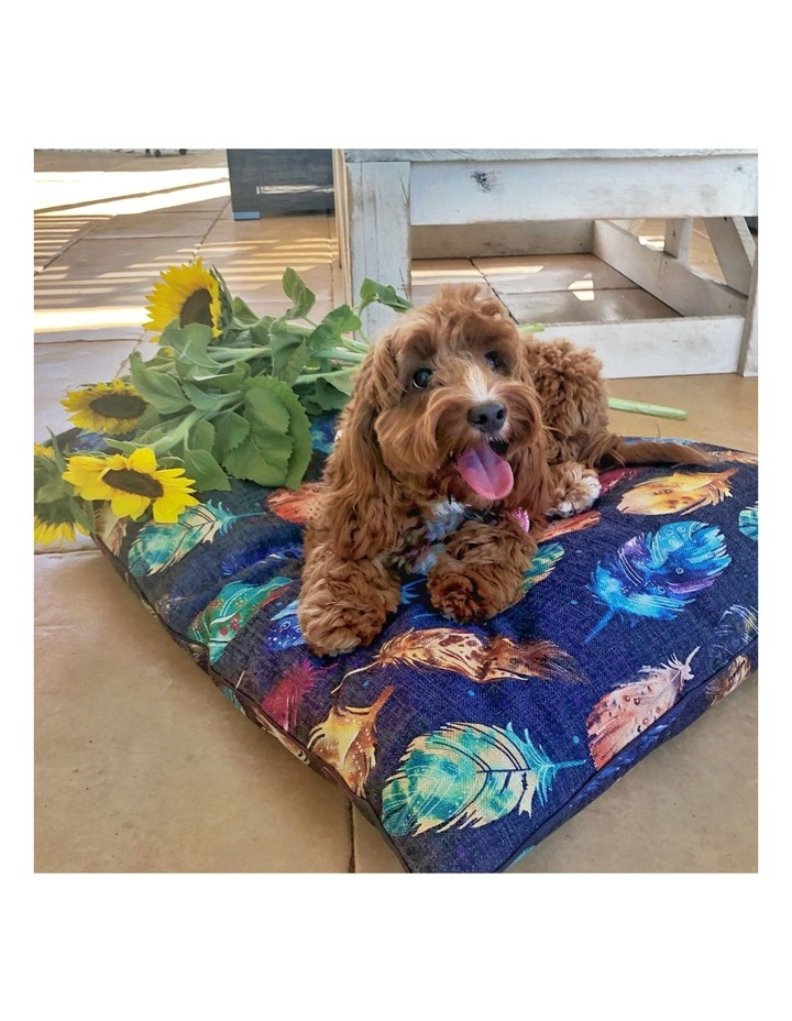 Feather Scatter Indigo  LARGE Pet Bed image 4