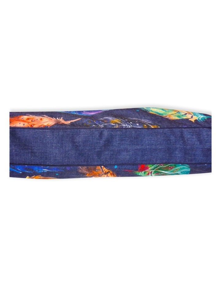 Feather Scatter Indigo  JUMBO Dog Bed image 2