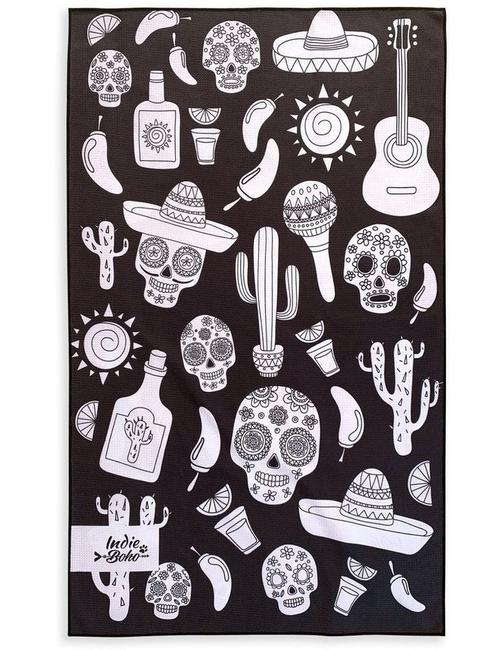 Mexican Skulls Pet Travel Towel image 3