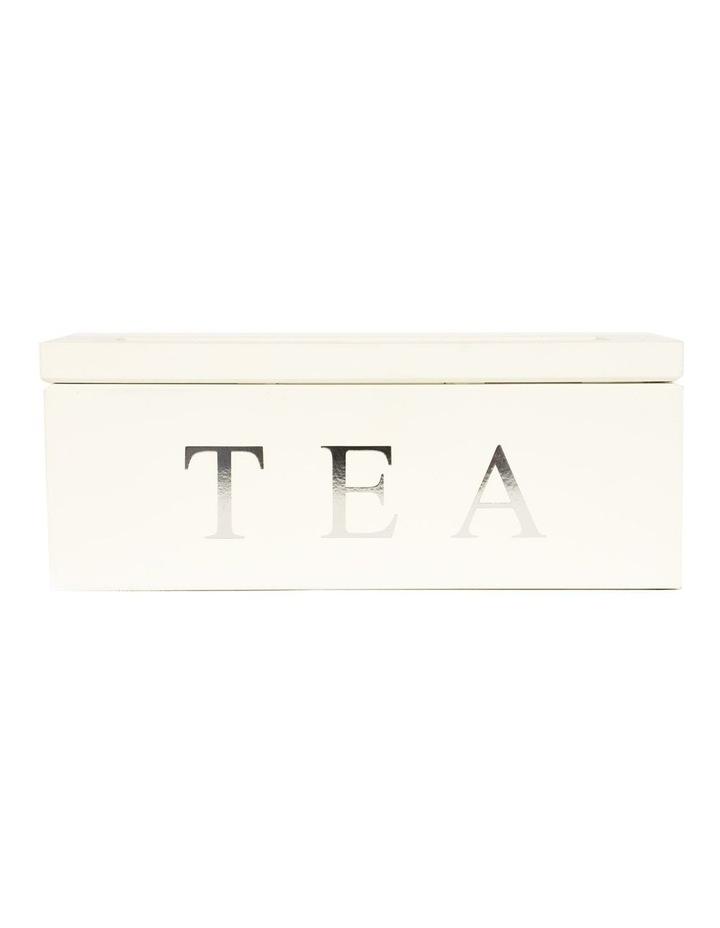 3 Compartment Wooden Tea Box image 1