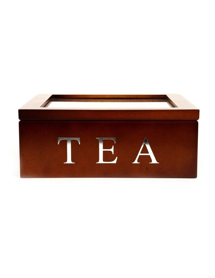 9 Compartment Wooden Tea Box image 1