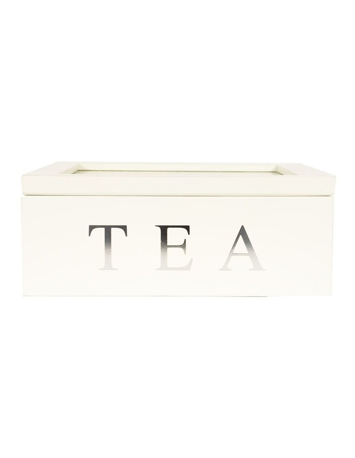 9 Compartment Wooden Tea Box image 1