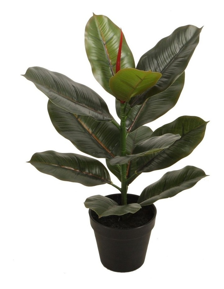 45Cm Tall Potted Ficus Home Decor Fake Plant Indoor Flowers Plastic image 1