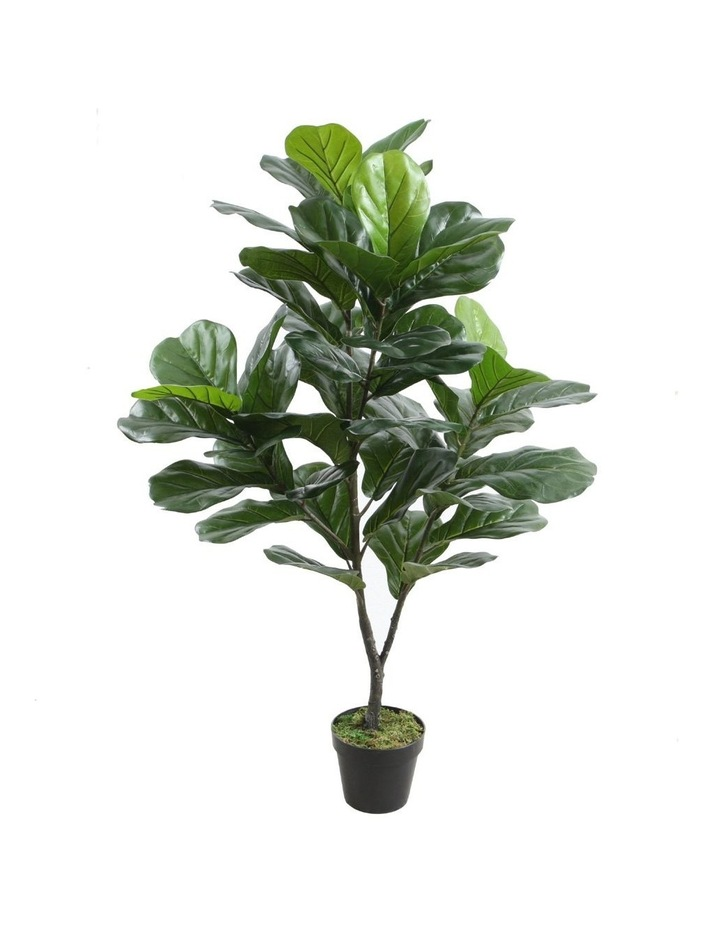 120Cm Tall Potted Fiddle Leaf Home Decor Fake Plant Indoor Flowers Plastic image 1