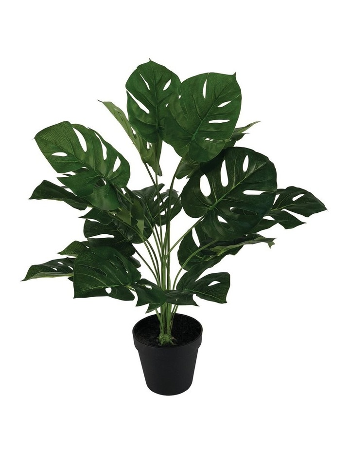 60Cm Artificial Monstera Plant Home Decor Faux Plant in Pot Indoor image 1
