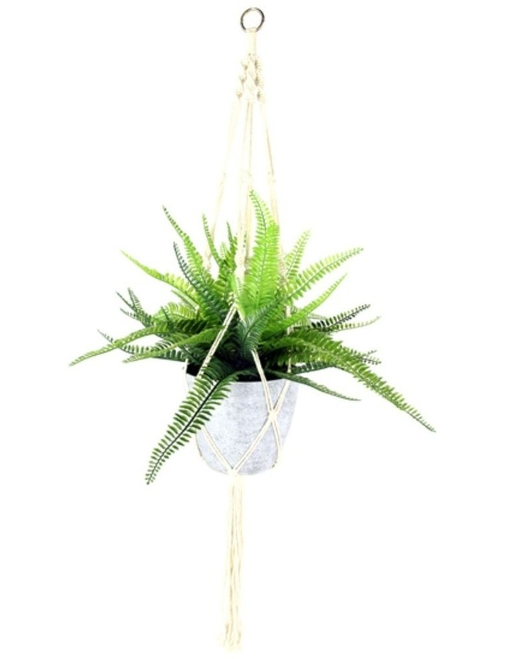 95Cm Tall Hanging Potted Artificial Boston Fern Decor Fake Plant Indoor image 1