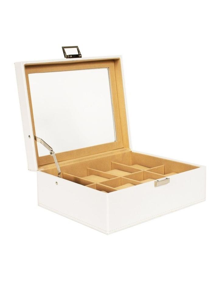 White 8 Grid Vegan Leather Watch Box image 1