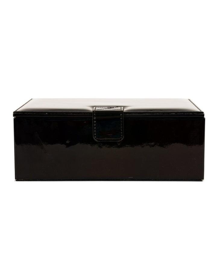 Shiny Black Vegan Leather  Jewellery Box image 1