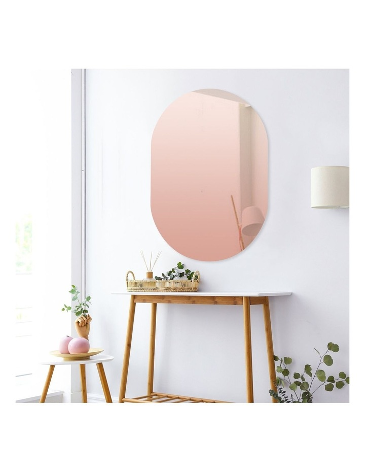 Issy Urban Frameless Oval Mirror Rose Gold 70cm image 1