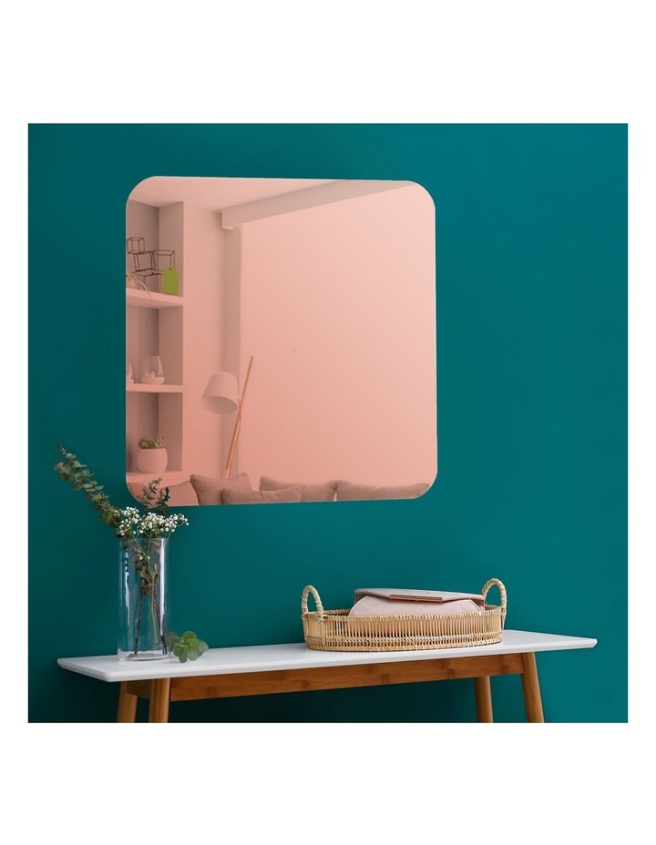 Issy Urban Frameless Square Mirror Rose Gold 70 cm image 1