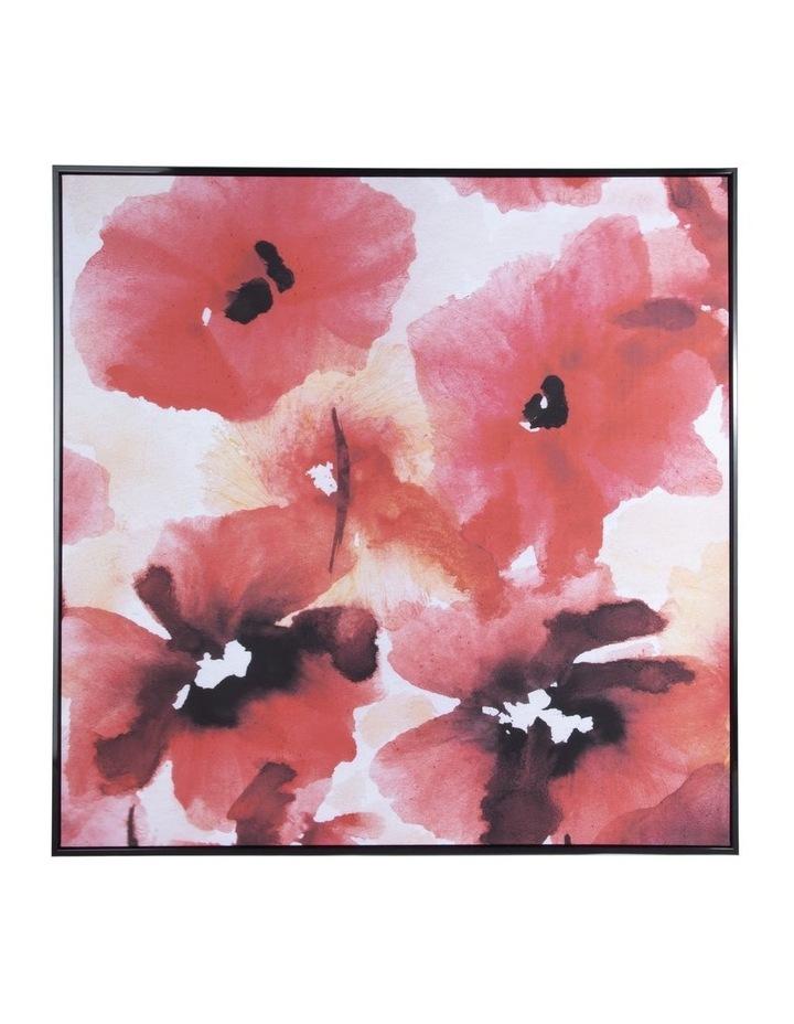 Framed Wall Art Red Flower image 1